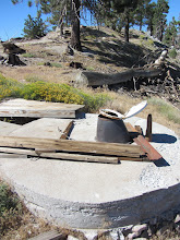 Photo: Important facilities at the ruins of So. Mt. Hawkins Fire Lookout
