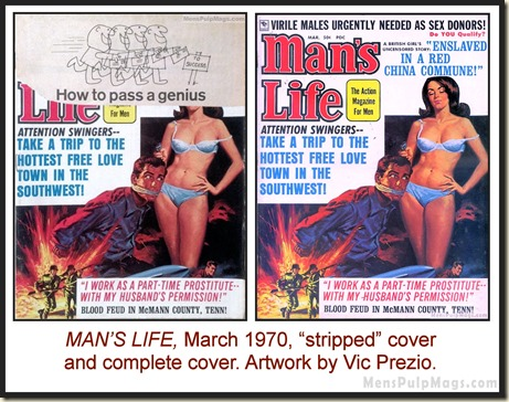 MAN'S LIFE, March 1970, cover by Vic Prezio
