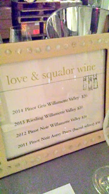love & squalor wines at the Salt Fire Water dinner with Salare and Renata