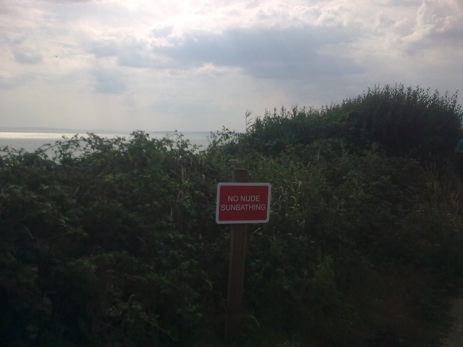 Image0323 No nudes sign - between Milford-on-Sea and Barton-on-Sea