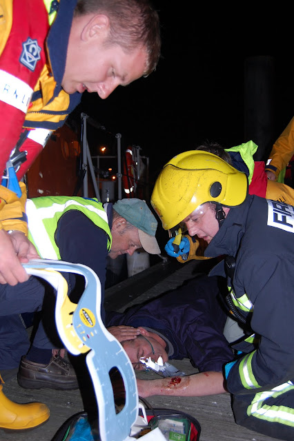 First aid exercise with multi-agencies