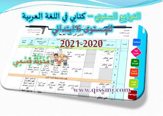 التخطيط السنوي كتابي في اللغة العربية المستوى السادس 2020