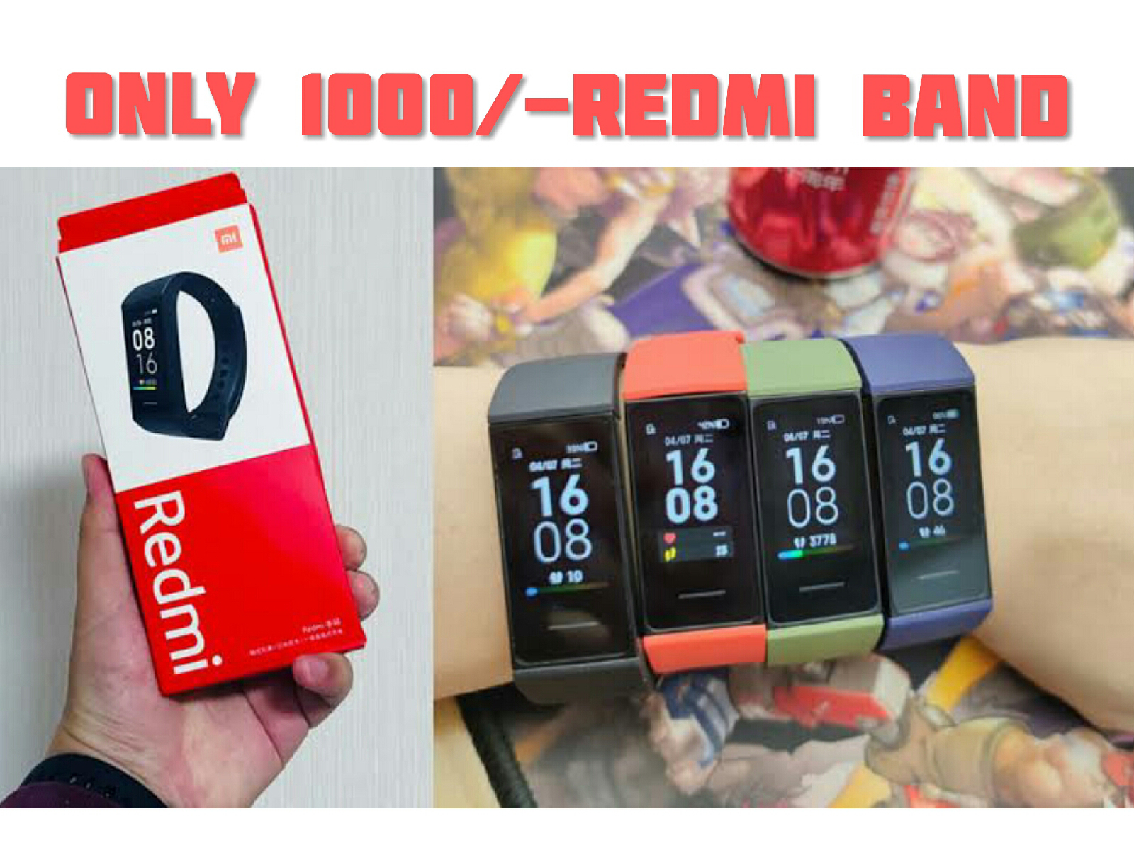 Redmi Band Unboxing & First Look - Only 1000Rs ??? Best Fitness Band - India Launching Soon