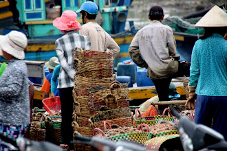 Photo: Year 2 Day 23 - Fish Baskets at Phan Thiet Harbour