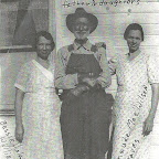 J.R. Wilson with his daughters Bessie Viola Williams and Maude Mae Gleaves