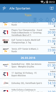 Live Sport im TV - Programm screenshot 4