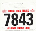 ATC Hearts and Soles 5K Race Bib