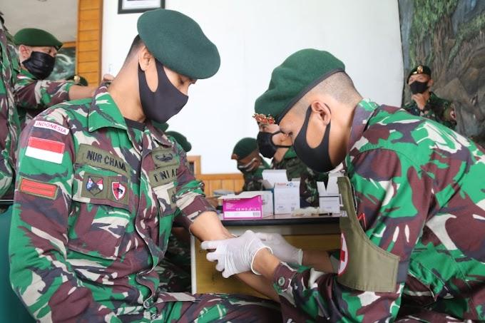Purna Tugas, Personel Satgas Yonif 411 Kostrad Jalani Pemeriksaan Kesehatan