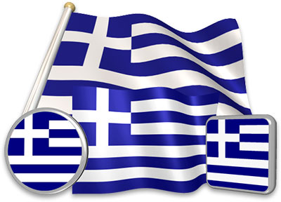 Greek flag animated gif collection