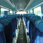 Het interieur van de Scania Irizar van Coach Group Holland bus 291