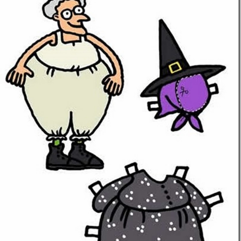 Recortable bruja para vestir