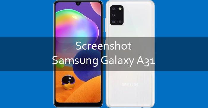 Screenshot Samsung Galaxy A31