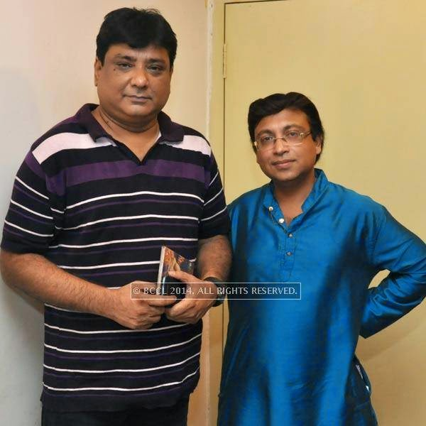 Gautam Susmit and Amit Das Gupta during audio launch of Ei Raat Tomar Amar at Kasba, Kolkata.