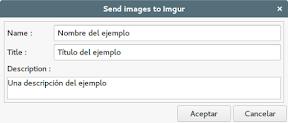 Como subir imágenes a ImgUr . Datos de la imagen.