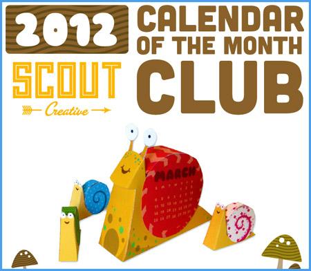 2012 Snail Papercraft Calendar