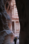 The most famous site at Petra is known as The Treasury. Unfortunately most of the interior was destroyed when the Nazis tried to steal the Holy Grail.