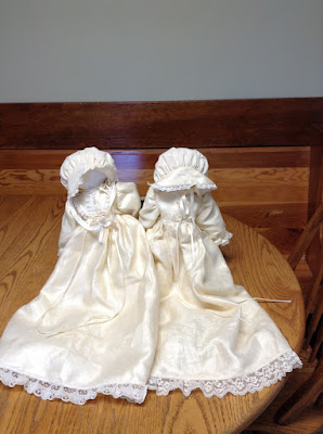 Wedding Gift - Tablecloth made into dolls