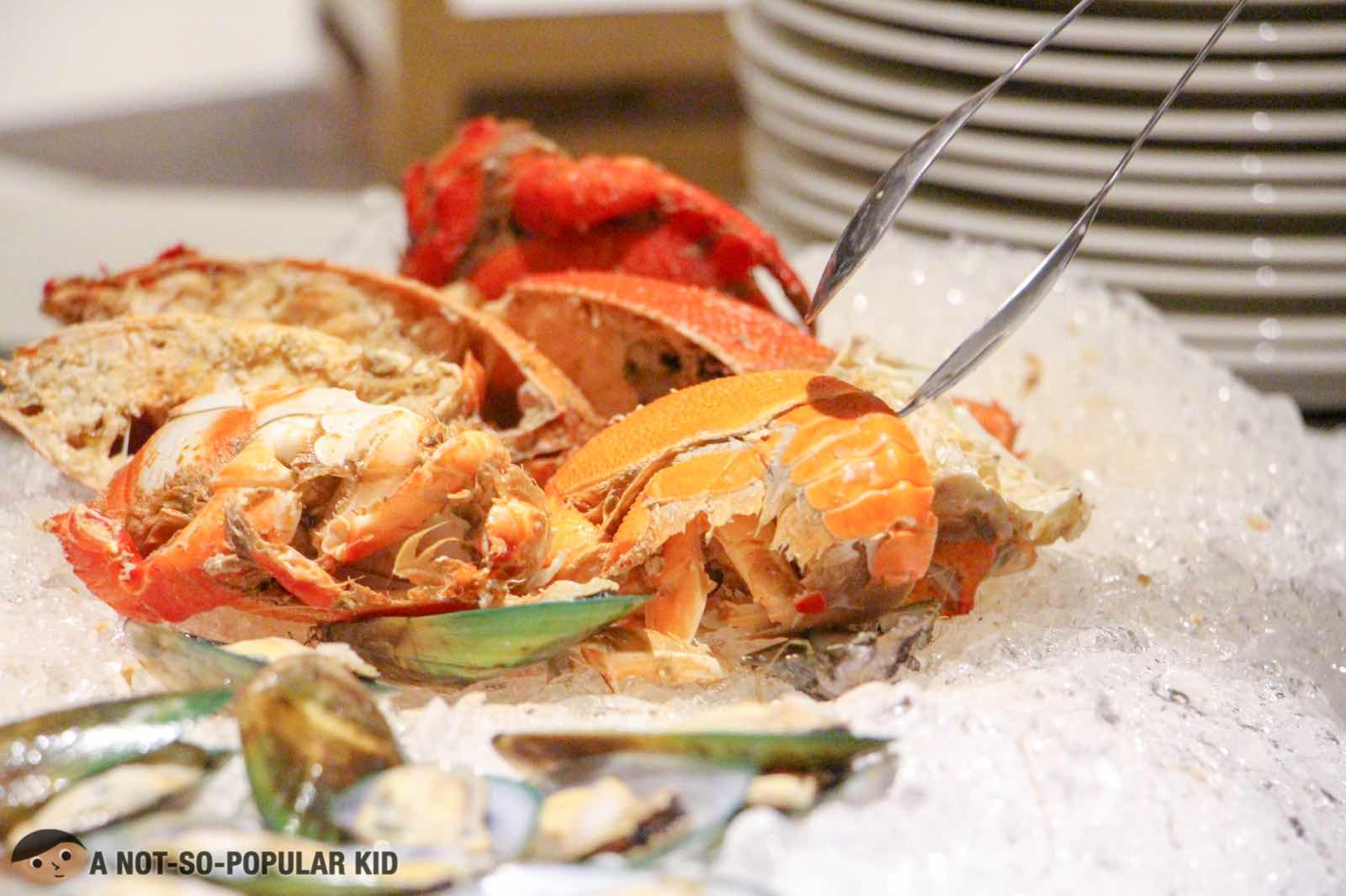 Lobsters for Seafood Night in S Kitchen, Sheraton Hotel