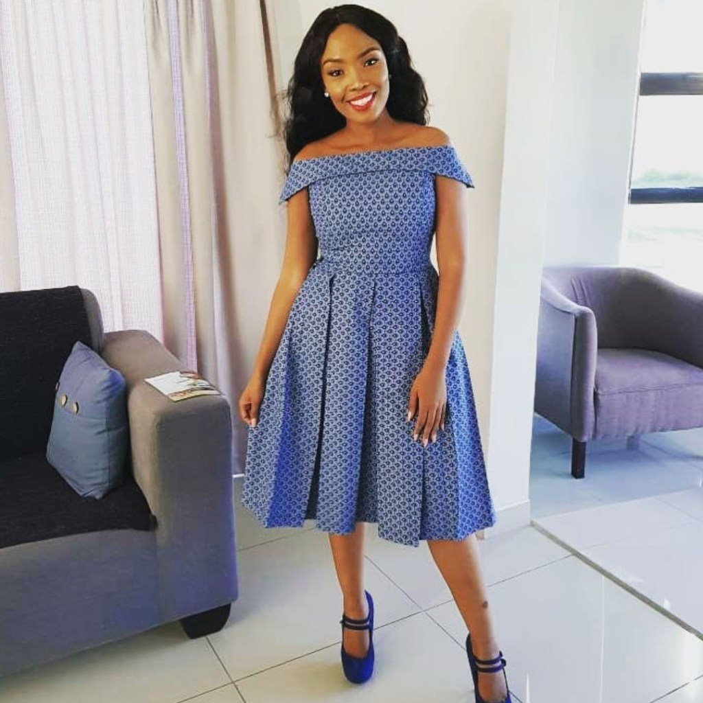 South African Shweshwe Dress Designs 2019