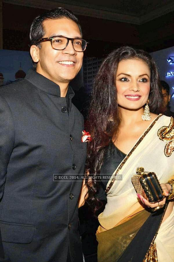 Rahul Grover and Kavita Ghai during the launch of Jaguar XJ, in Delhi.<br />