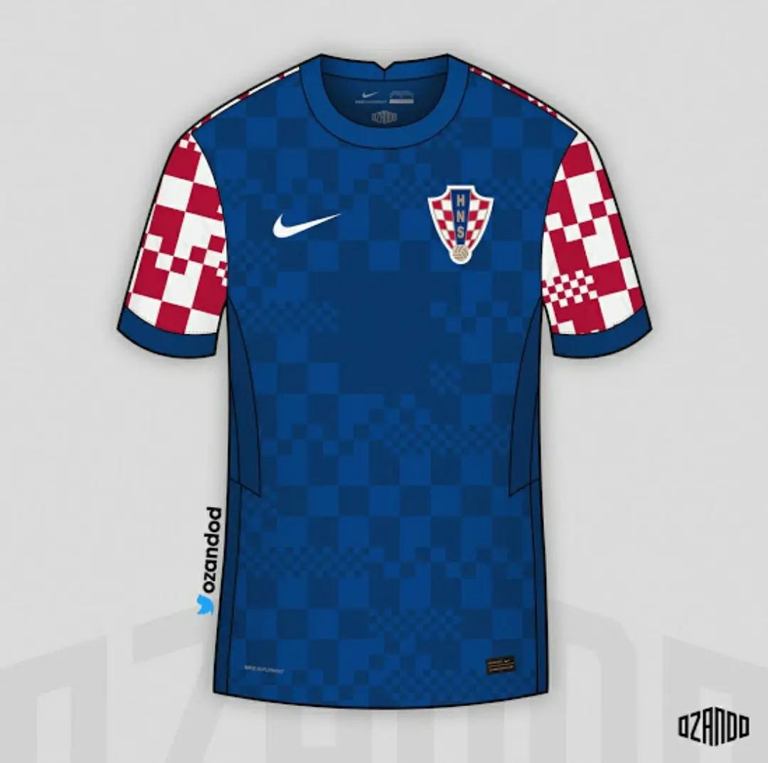 ini adalah gambar foto jersey bocoran kroasi away euro 2020