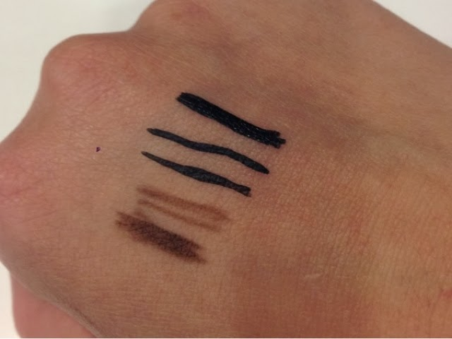 MAC Spiked Eye Brows and Superslick Liquid Eye Liner Swatches