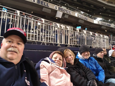 A chilly evening at the ballpark