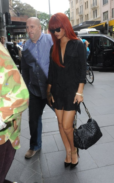 Rihanna - Dior Delices Gaufre Flap Bag