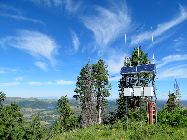 Solar panel and antennae