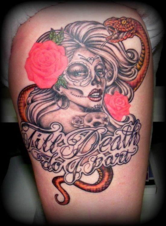 de_texto_e_de_sugar_skull_tattoo_ideia