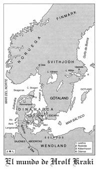 La-saga-de-Hrolf-Kraki-Mapa