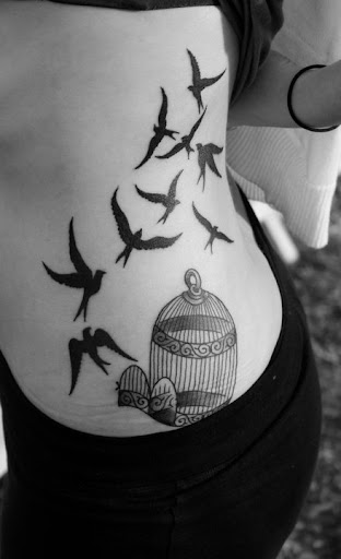 ribcage tattoo ideas for girls