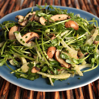 Herbed Pea Sprout, Fennel, and Mushroom Salad