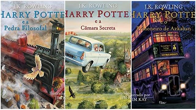 Todos os livros de Harry Potter estão disponíveis na Amazon