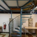 Maison de Fer : escalier métallique