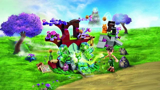Toàn cảnh bộ Lego Elves 41076 Farran và thung lũng pha lê Farran and the Crystal Hollow