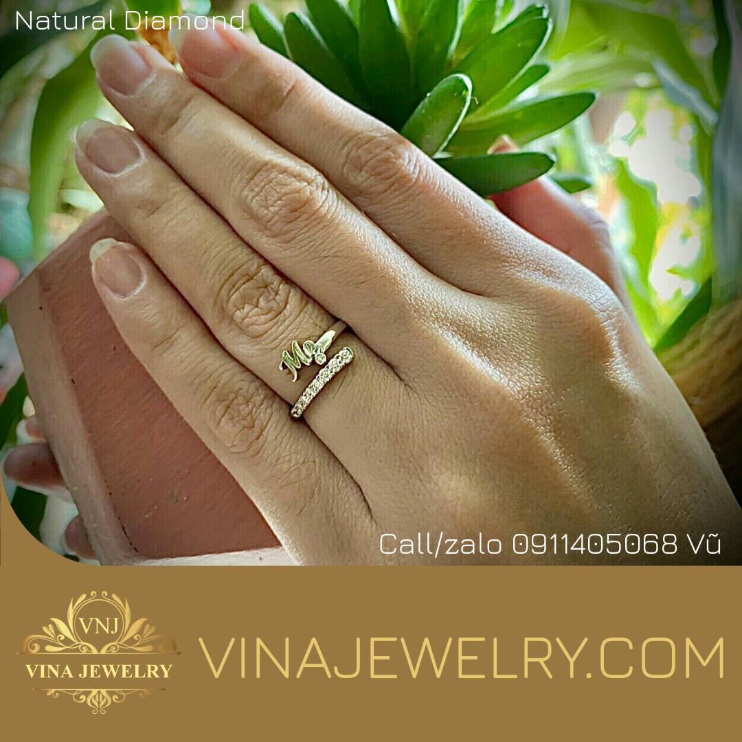 Nhẫn Kim cương chữ Mẹ, thiết kế bằng công nghệ 3d