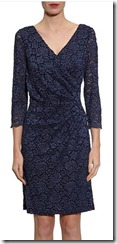 Gina Bacconi corded lace wrap dress