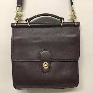 Coach Chocolate Side Saddle Bag