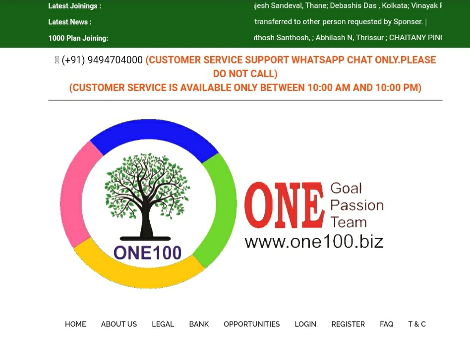 www.One100.Biz Single leg plan review