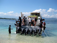 Arrival on Gili T