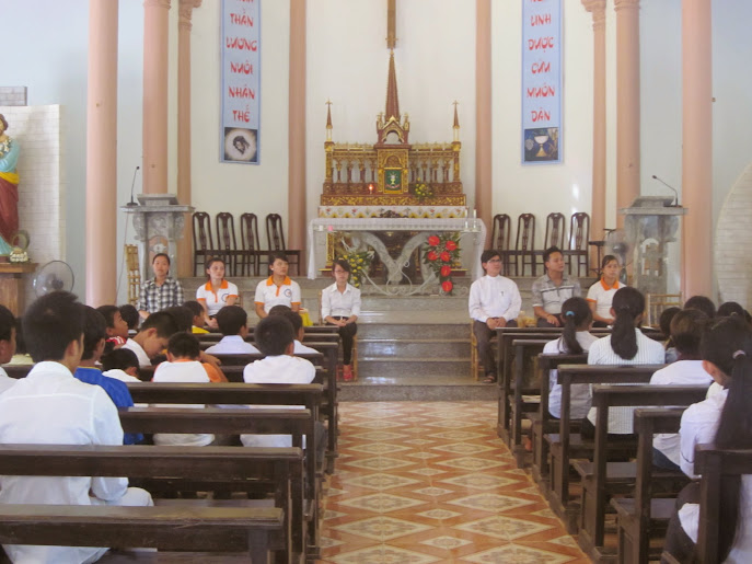 SVCG VINH tình nguyện tại giáo xứ Nghĩa Thành: dấu chân tình nguyện...