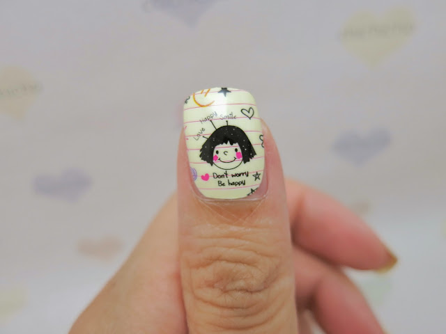 Puppy Love / High School Sweet Heart Nail Wrap MDS1024