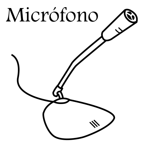 pinto dibujos  micr u00f3fono de computadora para colorear