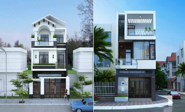 bản vẽ thiết kế nhà phố nhà ống đẹp