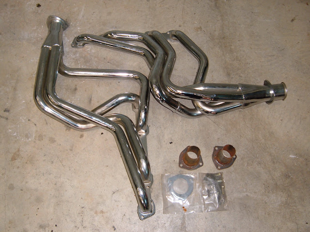 New headers for 1965-66 GS Skylark, chrome  550.00 or raw 500.00.