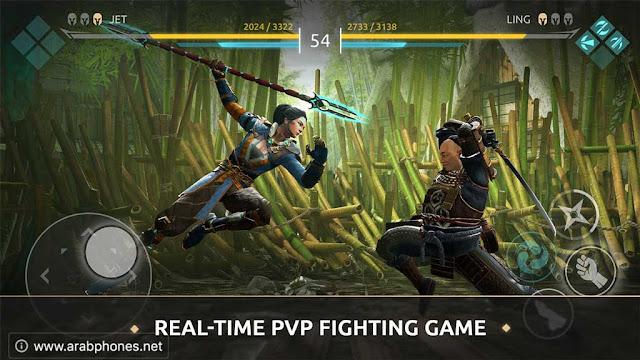 تحميل لعبة Shadow Fight Arena مهكرة للأندرويد