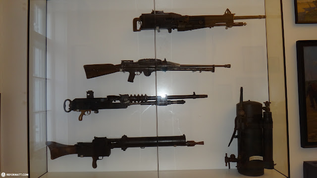 massive world war I rifles at the kaiserjagermuseum in Innsbruck, Tirol, Austria