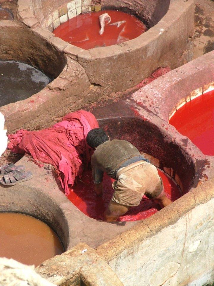 Il rosso sulla pelle di myskin