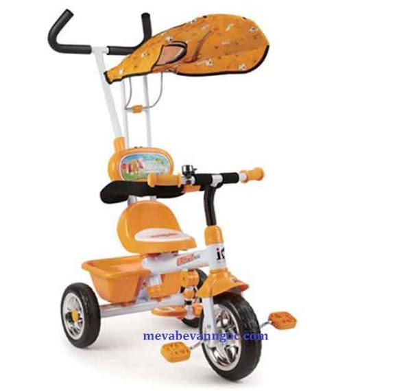 Xe đẩy trẻ em ba bánh B31 màu cam